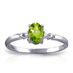 ALARRI 0.46 CTW 14K Solid White Gold Excellence w/ in Peridot Diamond Ring