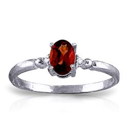 ALARRI 0.46 CTW 14K Solid White Gold Eyes Of Joy Garnet Diamond Ring