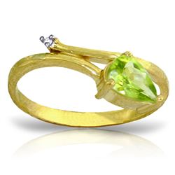 ALARRI 0.83 Carat 14K Solid Gold My Other Half Peridot Diamond Ring
