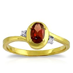 ALARRI 0.51 Carat 14K Solid Gold Devoured Garnet Diamond Ring