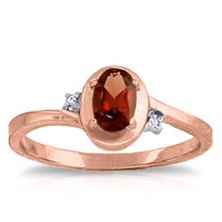 ALARRI 0.51 Carat 14K Solid Rose Gold Atlantis Garnet Diamond Ring