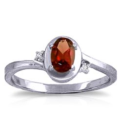 ALARRI 0.51 Carat 14K Solid White Gold Revelations Garnet Diamond Ring