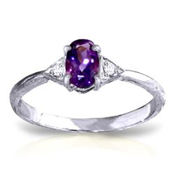 ALARRI 0.46 CTW 14K Solid White Gold Another Dream Amethyst Diamond Ring