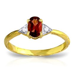 ALARRI 0.46 Carat 14K Solid Gold Let's Meet Garnet Diamond Ring