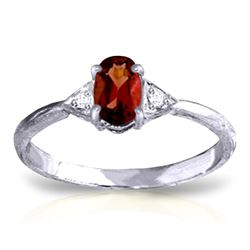 ALARRI 0.46 Carat 14K Solid White Gold Coming To Life Garnet Diamond Ring
