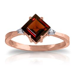 ALARRI 1.77 CTW 14K Solid Rose Gold Espirit Garnet Diamond Ring