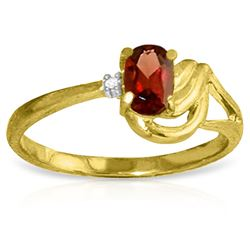 ALARRI 0.46 Carat 14K Solid Gold You Are My Influence Garnet Diamond Ring