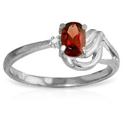 ALARRI 0.46 Carat 14K Solid White Gold Clarity Garnet Diamond Ring