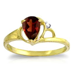 ALARRI 0.66 CTW 14K Solid Gold You Dawned On Me Garnet Diamond Ring