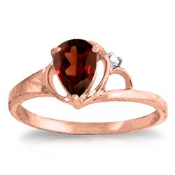 ALARRI 0.66 Carat 14K Solid Rose Gold Victoria Garnet Diamond Ring