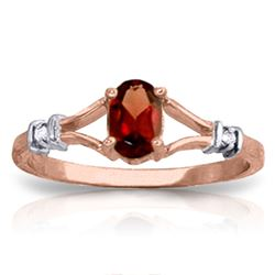 ALARRI 0.46 Carat 14K Solid Rose Gold Emotion Garnet Diamond Ring