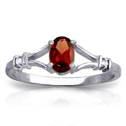 ALARRI 0.46 CTW 14K Solid White Gold Family Is Forever Garnet Diamond Ring