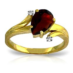 ALARRI 1.51 Carat 14K Solid Gold Soul Searching Garnet Diamond Ring