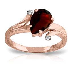 ALARRI 1.51 CTW 14K Solid Rose Gold Lovelight Garnet Diamond Ring