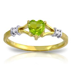 ALARRI 0.47 Carat 14K Solid Gold Not Out Of Sight Peridot Diamond Ring