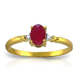 ALARRI 0.51 CTW 14K Solid Gold Ring Natural Diamond Ruby