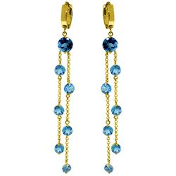 ALARRI 9.02 Carat 14K Solid Gold Chandelier Earrings Blue Topaz