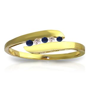 ALARRI 0.25 CTW 14K Solid Gold Ring Channel Set Diamond Sapphire