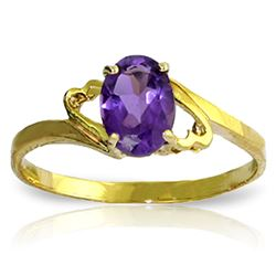 ALARRI 0.65 Carat 14K Solid Gold She Speculates Amethyst Ring
