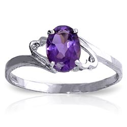 ALARRI 0.65 Carat 14K Solid White Gold Success By Degrees Amethyst Ring