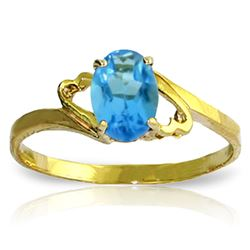 ALARRI 0.95 Carat 14K Solid Gold Next Level Blue Topaz Ring