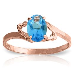 ALARRI 0.95 Carat 14K Solid Rose Gold Gigi Blue Topaz Ring