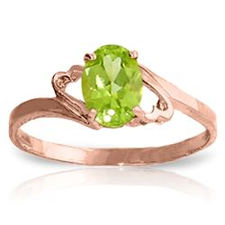 ALARRI 0.75 CTW 14K Solid Rose Gold Gigi Peridot Ring
