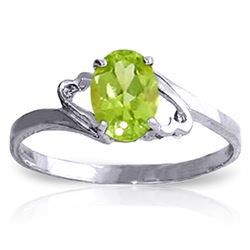 ALARRI 0.75 Carat 14K Solid White Gold Sula's Dreams Peridot Ring