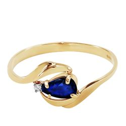 ALARRI 0.51 Carat 14K Solid Gold Turbulent Waters Sapphire Diamond Ring