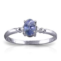 ALARRI 0.46 CTW 14K Solid White Gold Ring Natural Diamond Tanzanite