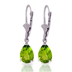 ALARRI 3 CTW 14K Solid White Gold Right Decisions Peridot Earrings