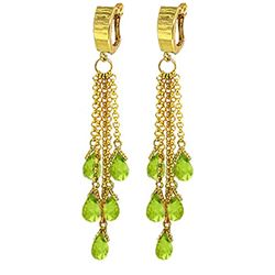 ALARRI 7.3 Carat 14K Solid Gold Playful Hoop Peridot Earrings