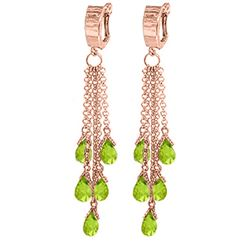 ALARRI 7.3 Carat 14K Solid Rose Gold Chandelier Earrings Peridot