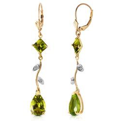ALARRI 3.97 CTW 14K Solid Gold Romance Peridot Earrings