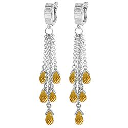 ALARRI 7.3 Carat 14K Solid Gold Liberated Elegance Citrine Earrings