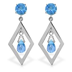 ALARRI 2.4 Carat 14K Solid Gold Make A Comeback Blue Topaz Earrings