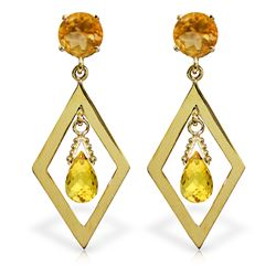 ALARRI 2.4 Carat 14K Solid Gold Euphoria Citrine Earrings