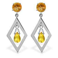 ALARRI 2.4 CTW 14K Solid Gold Celebratory Citrine Earrings