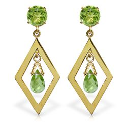ALARRI 2.4 Carat 14K Solid Gold Euphoria Peridot Earrings