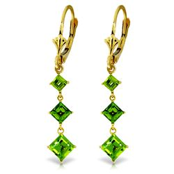 ALARRI 4.79 Carat 14K Solid Gold Chandelier Earrings Peridot