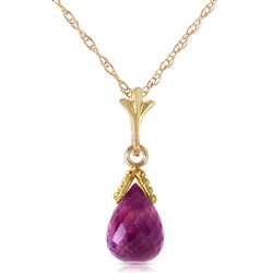 ALARRI 2.3 CTW 14K Solid Gold Necklace Briolette Purple Amethyst