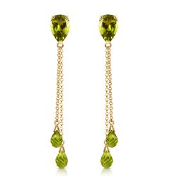 ALARRI 7.5 Carat 14K Solid Gold Eloquence Peridot Earrings