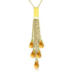 ALARRI 5.8 CTW 14K Solid Gold Enjoyment Citrine Necklace