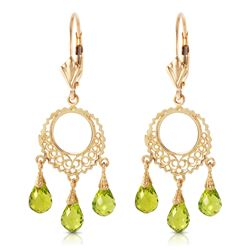 ALARRI 3.75 CTW 14K Solid Gold Funfare Peridot Earrings