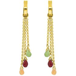 ALARRI 4.9 Carat 14K Solid Gold Chandelier Earrings Multi Gemstones