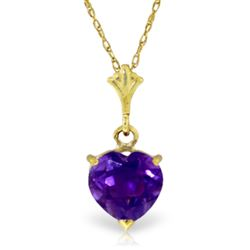 ALARRI 1.15 Carat 14K Solid Gold It's A Date Amethyst Necklace