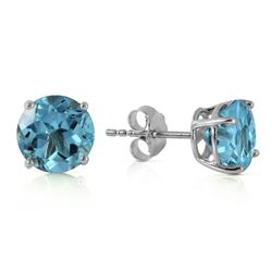 ALARRI 3.1 Carat 14K Solid White Gold Admitting Blue Topaz Earrings