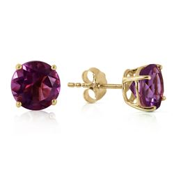 ALARRI 3.1 CTW 14K Solid Gold No Discord Amethyst Earrings