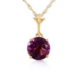 ALARRI 1.15 Carat 14K Solid Gold Love Your Smile Amethyst Necklace