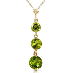 ALARRI 3.6 Carat 14K Solid Gold Necklace Natural Peridot